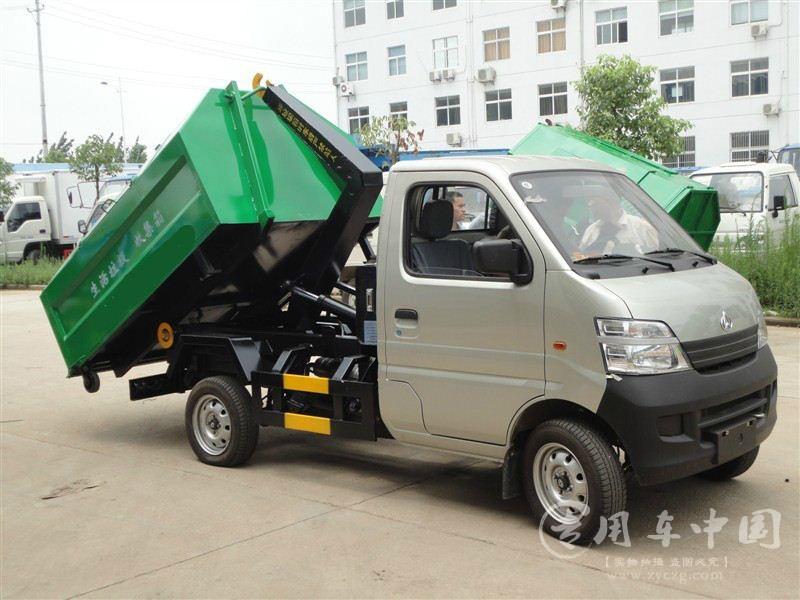长安3方勾臂式垃圾车图片
