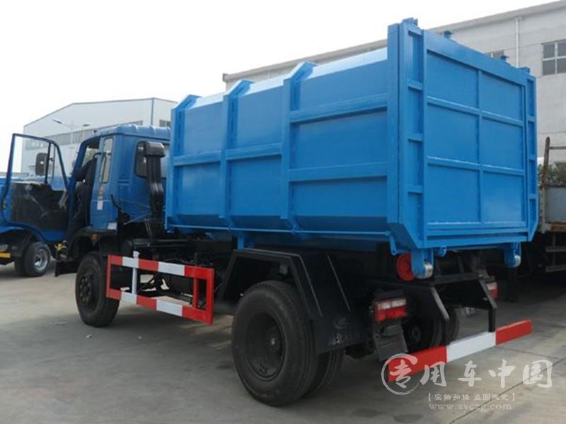 东风145 8方勾臂式垃圾车图片