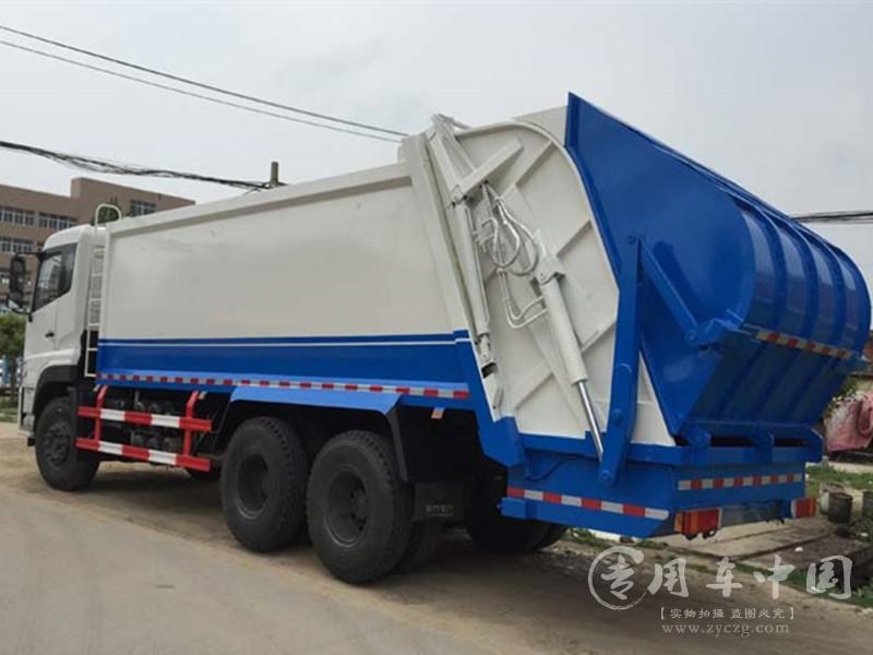 东风天龙16方压缩垃圾车图片