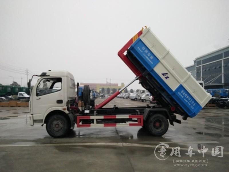 东风6方勾臂垃圾车图片