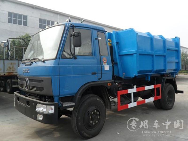 东风8方勾臂垃圾车图片