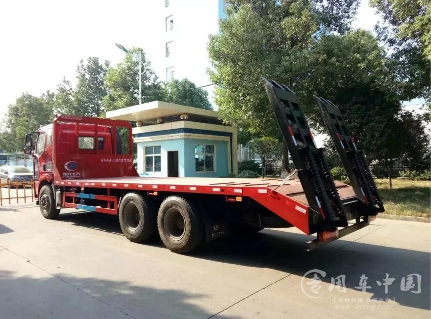 解放7米6平板车