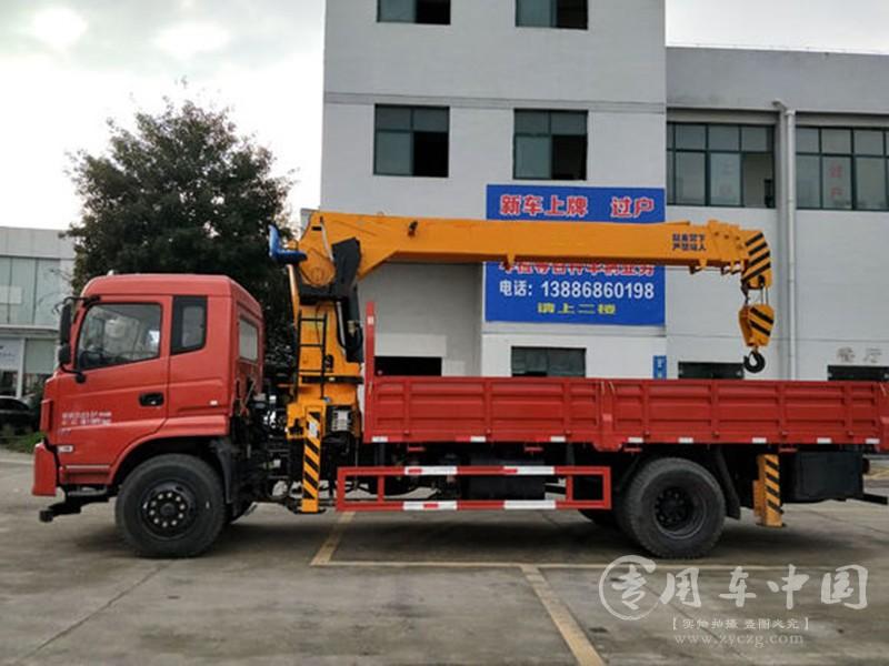程力东风专底10吨随车吊
