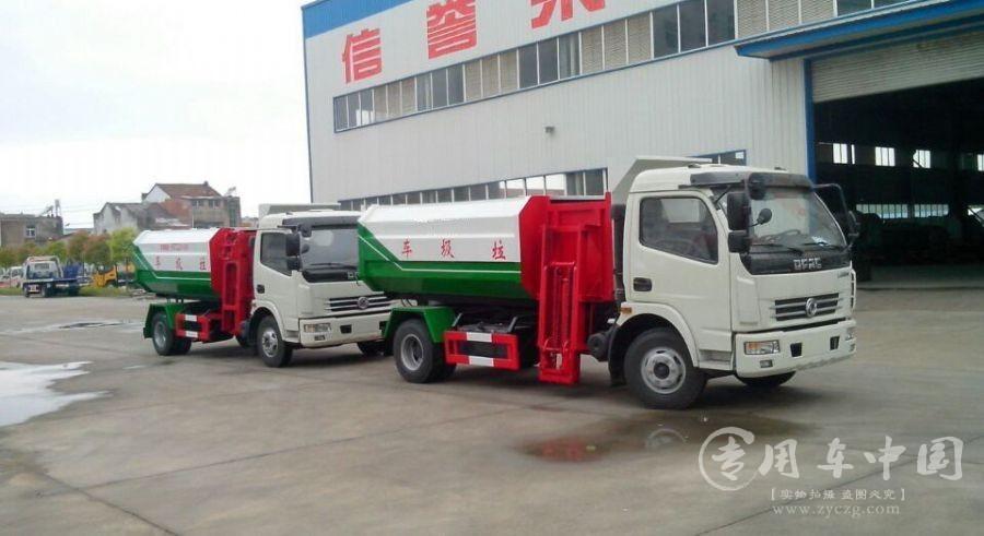 程力东风4方挂桶式垃圾车