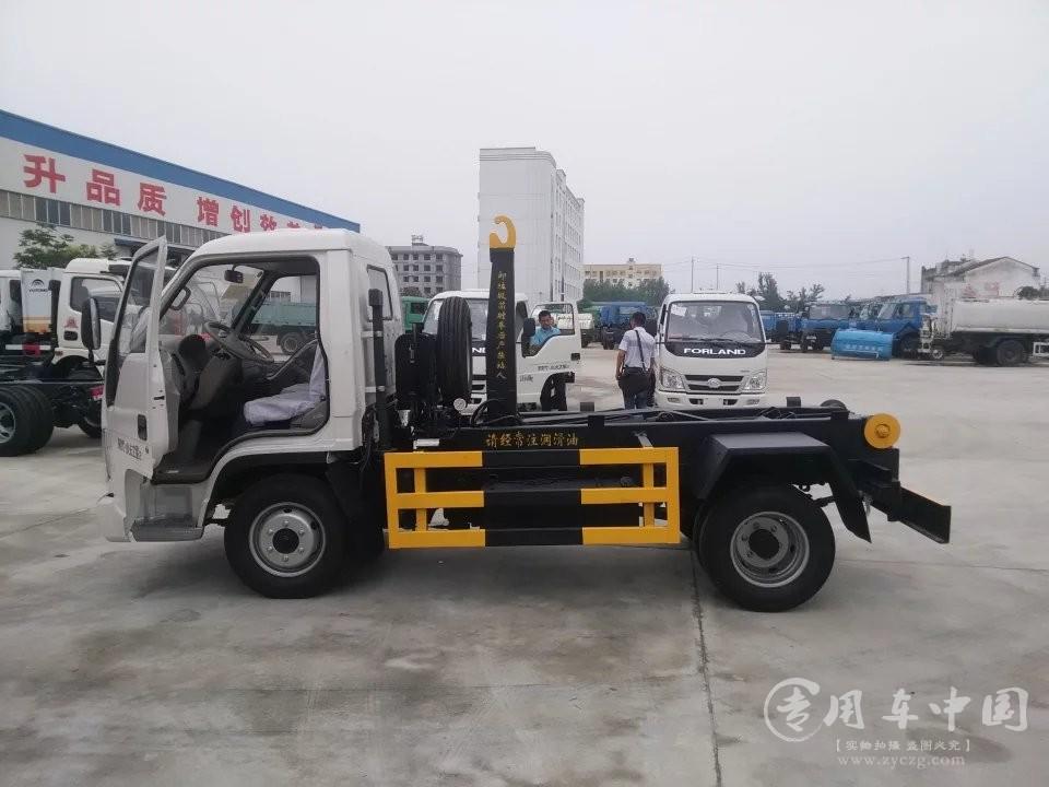 程力福田小卡3方钩臂式垃圾车