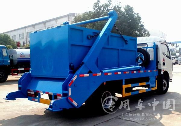 合力东风多利卡6方摆臂式垃圾车