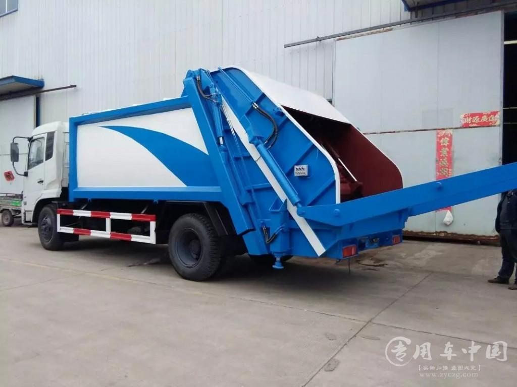 程力东风天锦8方压缩式垃圾车