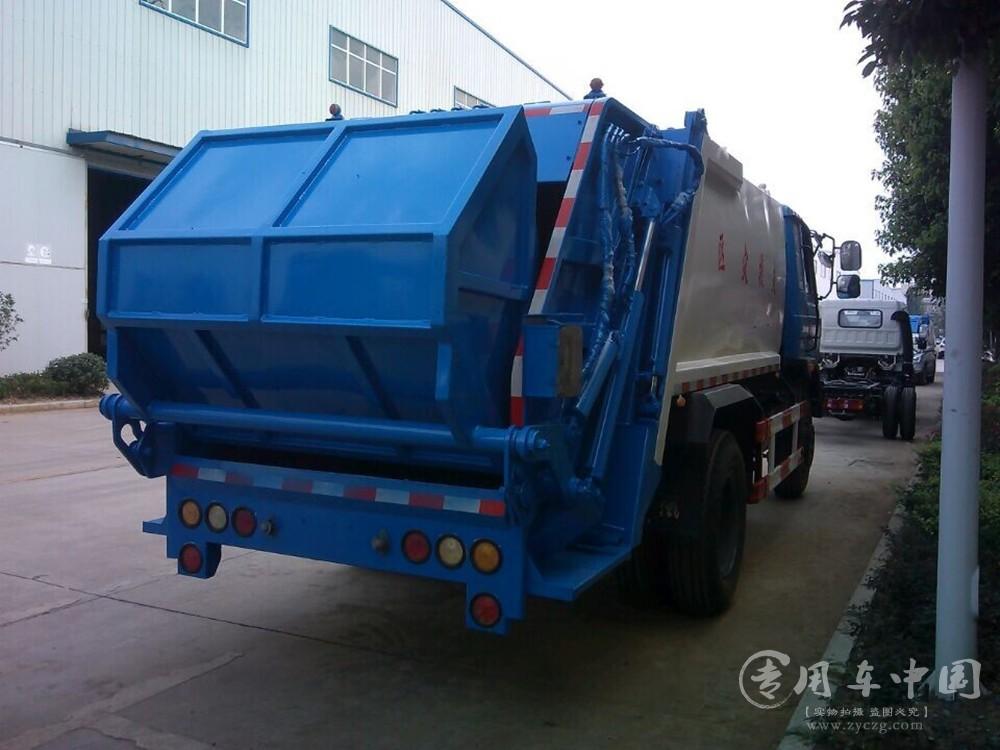 程力东风145 8方压缩式垃圾车