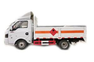 东风途逸3米汽油版2类一氧化碳易燃气体仓栏 栏板气瓶运输车