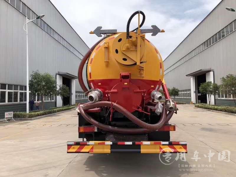 东风天龙18方清洗吸污车