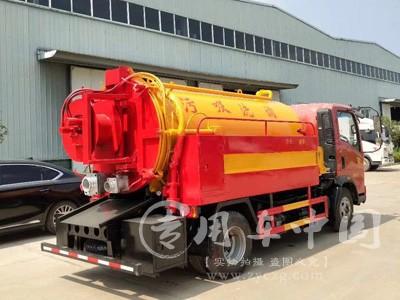 程力重汽豪沃5方高压清洗车