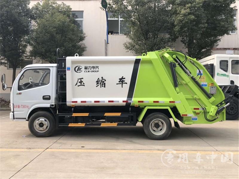 程力东风多利卡5方压缩式垃圾车