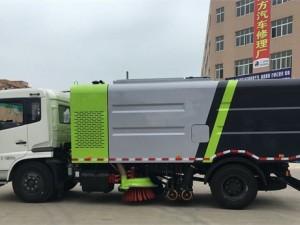 扫路车和吸尘车的结合版东风天锦干扫车