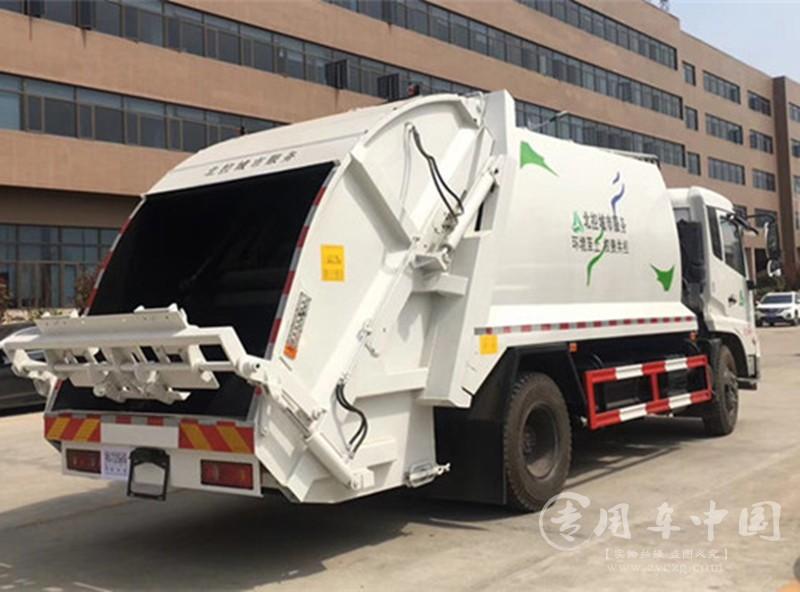程力东风天锦10方压缩式垃圾车
