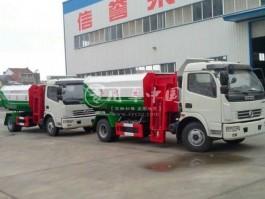东风多利卡挂桶垃圾车
