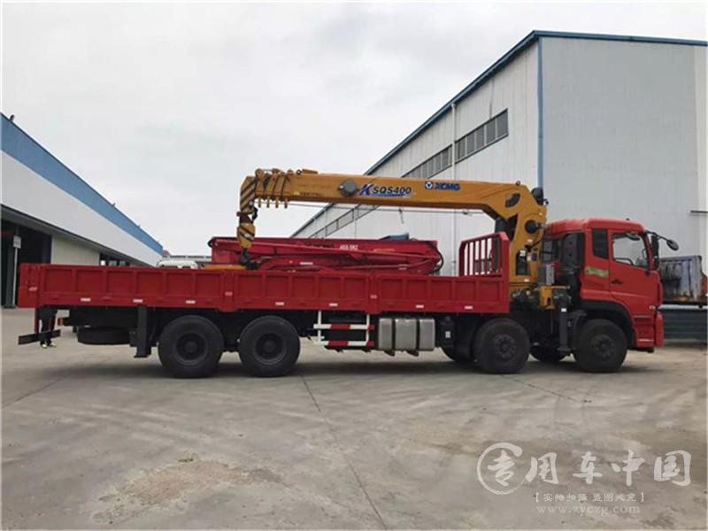 东风天龙16吨随车吊图片