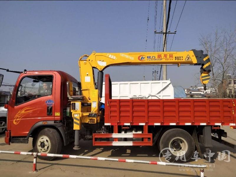 重汽豪曼5吨随车吊图片
