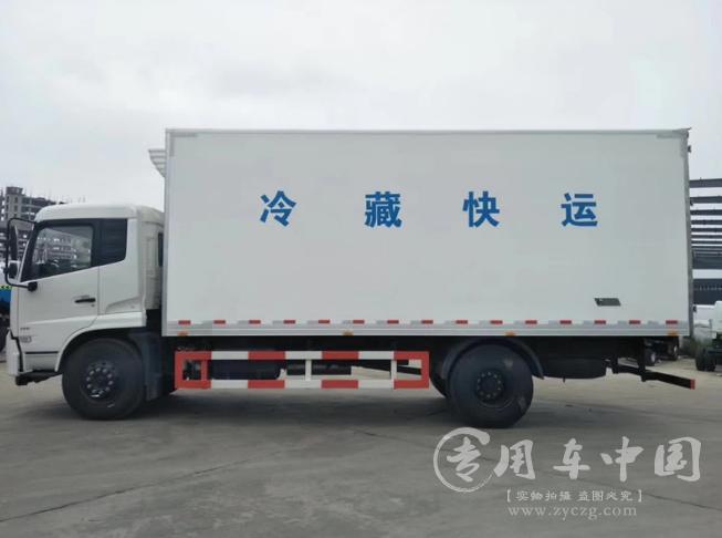 东风天锦单桥冷藏车图片