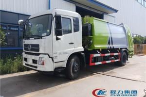 东风天锦国六12方压缩式垃圾车