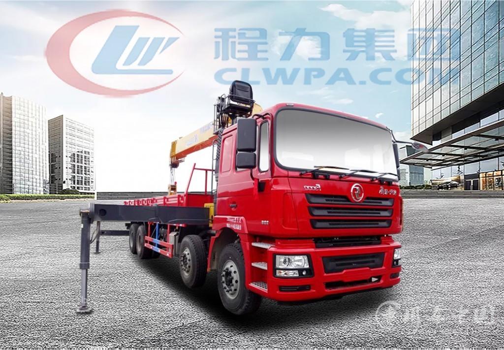 陕汽德龙前四后八12吨-16吨随车吊价格表(高清图片)
