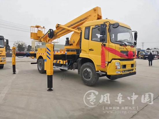 东风天锦28米伸缩臂高空作业车