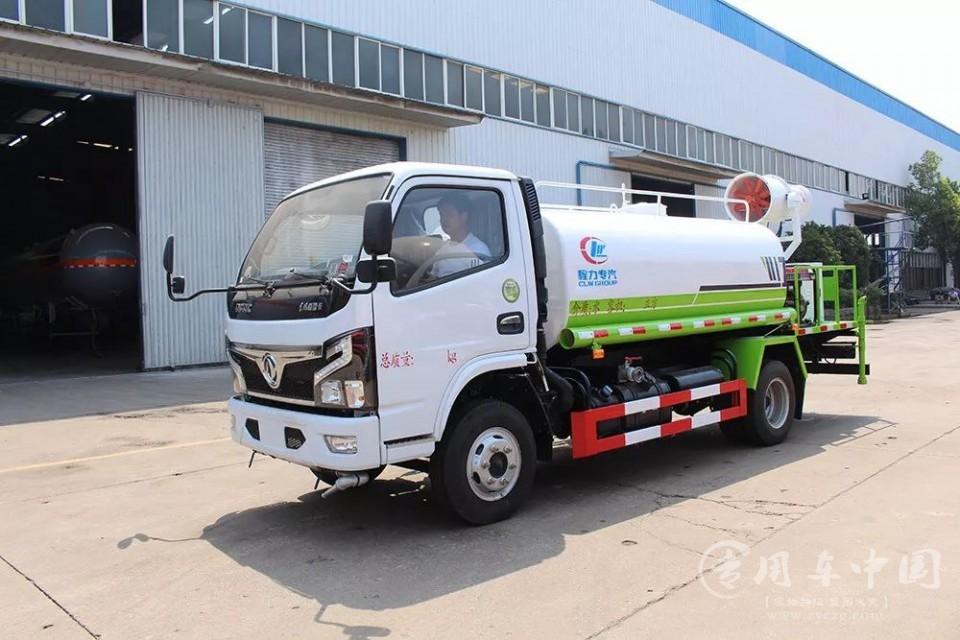 国六东风多利卡D6 5方喷雾降尘车价格¥116000元