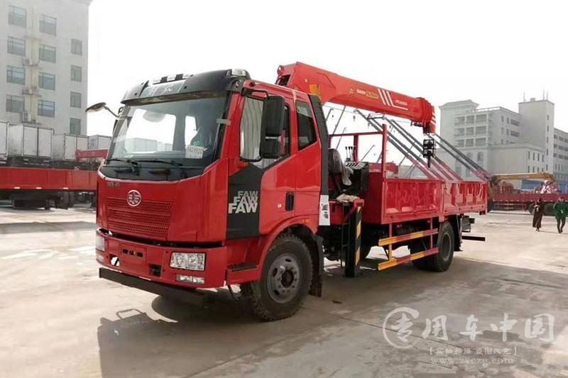 解放J6 8吨三一随车起重运输车价格¥296000元