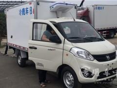 山东冷藏车客户提福田奥铃小型冷藏车