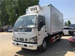 重庆蓝牌冷藏车,五十铃4.2米冷藏车发车
