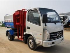 河北邯郸3方侧挂桶垃圾车发车了