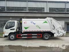 江淮骏铃E6国五8方后装压缩式垃圾车动态