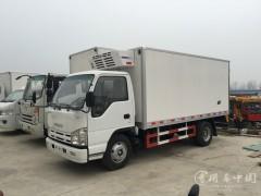 云南玉溪五十铃4.1米小型冷藏车某医药公司采购一台