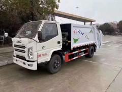 国六江铃顺达5方压缩式垃圾车评测