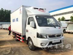 国六东风途逸3.5米冷藏车动态