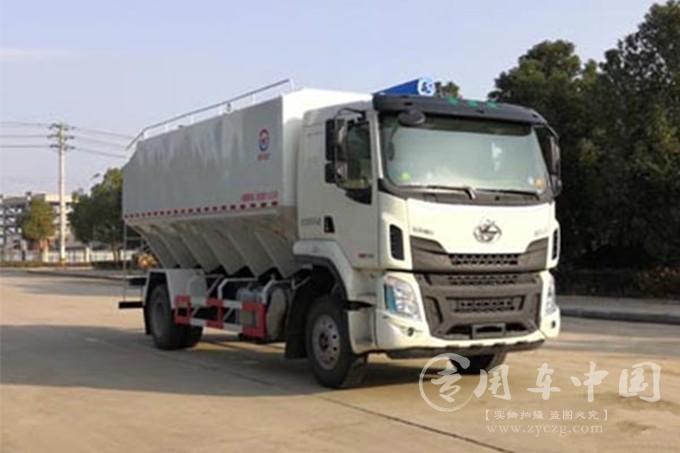 柳汽乘龙国六散装饲料运输车28方、32方、40方之散装饲料运输车动态