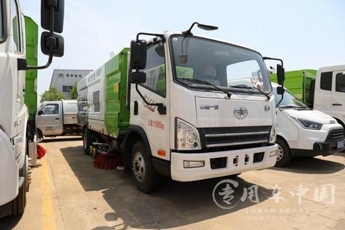 总质量为12吨的国六洗扫车,东风与解放谁有优势