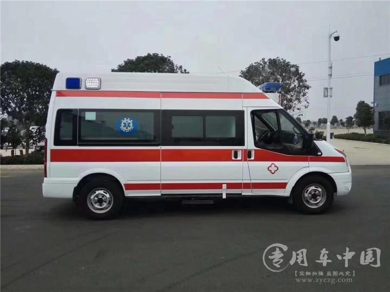 吉林省扶余中医院订购福特V348监护型救护车