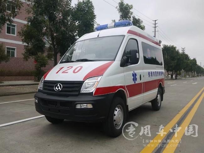 大通V80监护型救护车整装待发|监护型救护车提车