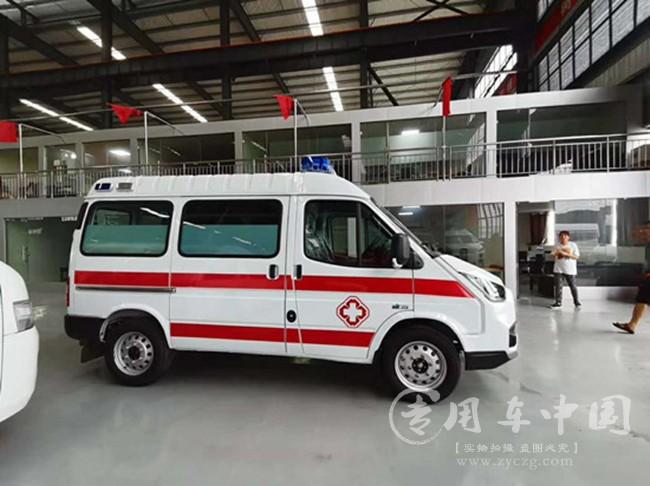 江铃特顺急救车顺利上岗|救护车成功提车