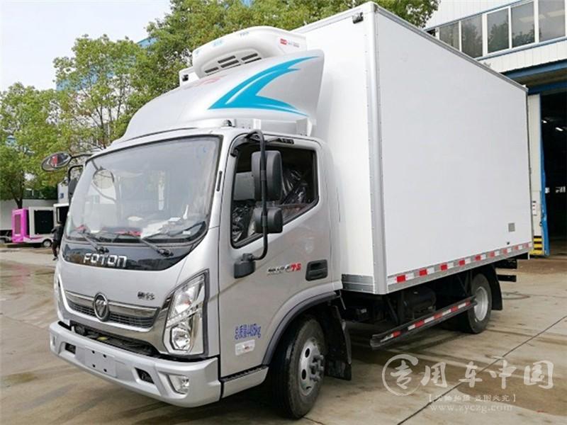 国六福田蓝牌冷藏车图片