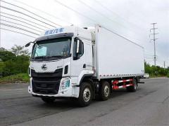 柳汽乘龙小三轴9.6米冷藏车发车|9.6米冷藏车提车了
