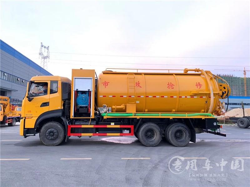 国六东风天龙后八轮清洗吸污车图片4