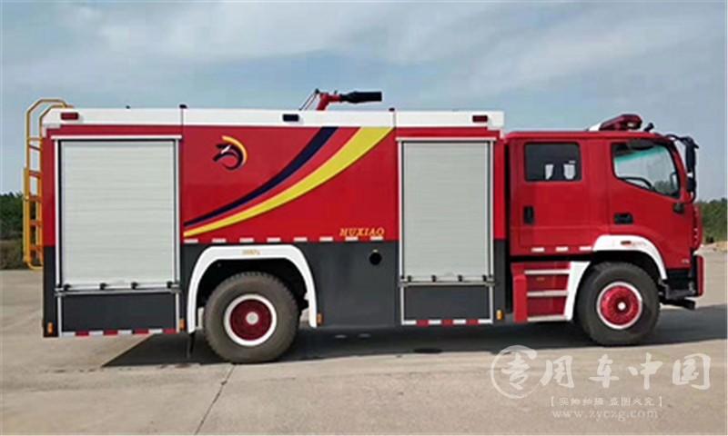 福田5吨水罐消防车动态