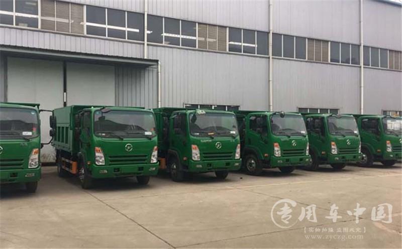 江西九江22台大运密封式自卸垃圾车发车|密封式自卸垃圾车顺利发车