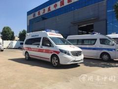 5台医疗奔驰救护车出发|奔驰救护车发车