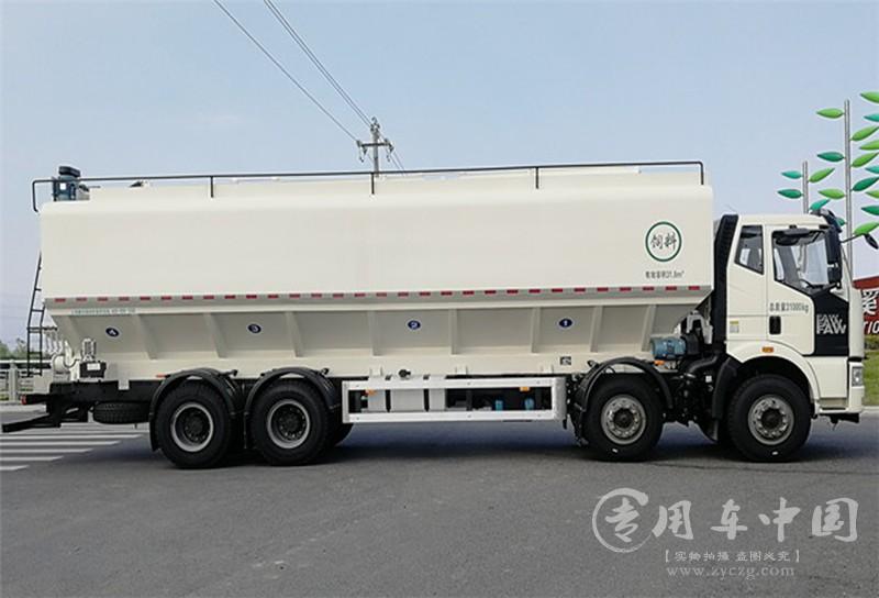 解放20吨饲料运输罐车图片