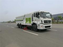正宗原厂国六东风天龙大型多功能洗扫车今天发走一台|道路