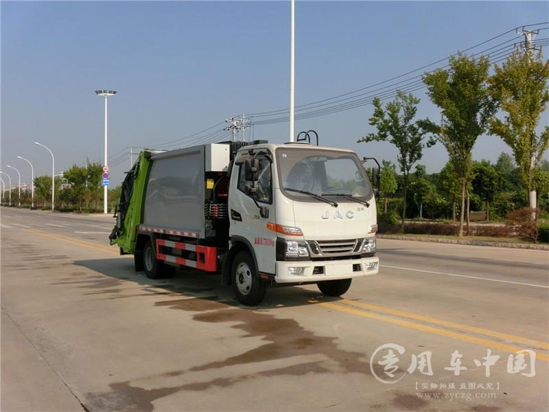 江淮骏铃6方压缩式垃圾车图片3 (1)