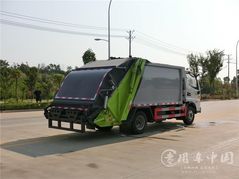 江淮骏铃6方压缩式垃圾车图片7