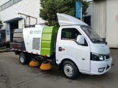 国六东风途逸2.5方扫路车试车正在进行|扫路车顺利交车